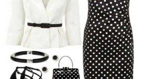 مدلهای لباس مجلسی خال خالی + ست کردن لباس خال خالی