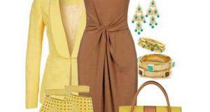 ست لباس مهمانی قهوه ای رنگ زنانه برای فصول مختلف