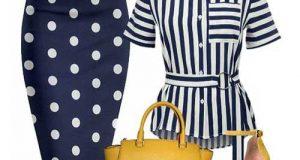 ست لباس راه راه زنانه | نکات پوشیدن لباس راه راه
