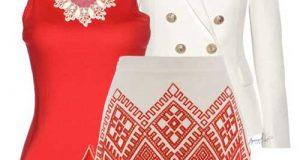 ست لباس زنانه قرمز رنگ | راهنمای ست کردن رنگ قرمز