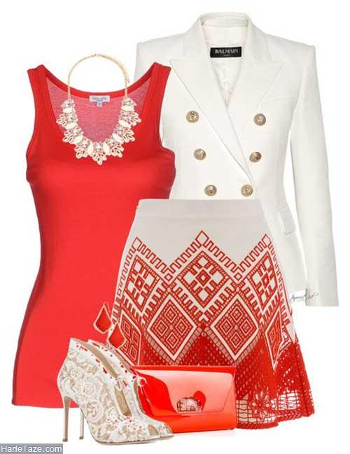 لباس زنانه قرمز