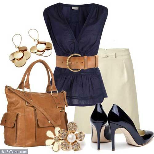 لباس زنانه سرمه ای