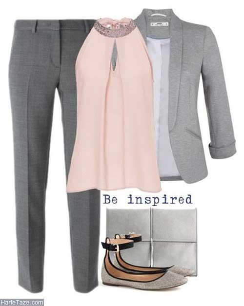 لباس زنانه طوسی
