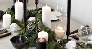 مدلهای شیک تزیین میز غذاخوری و میز آرایی با شمع و گل