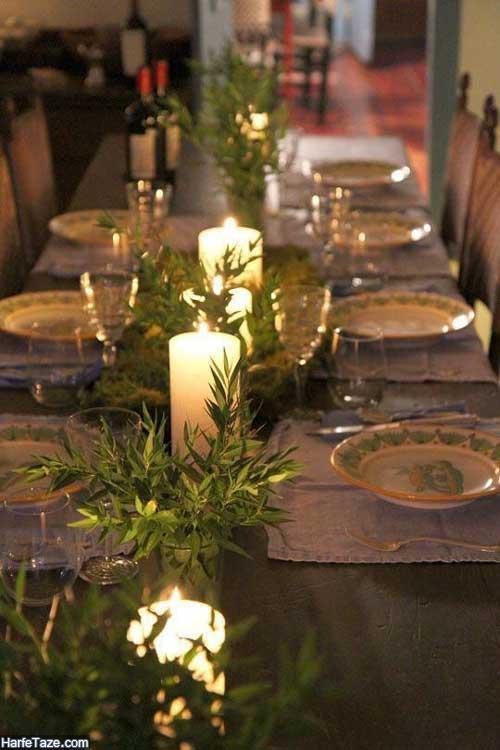 میز آرایی با شمع