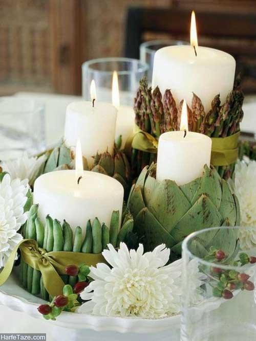 پروفایل شمع و گل