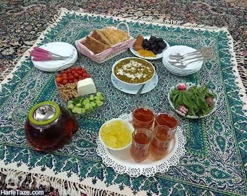 سفره افطاری مجلسی