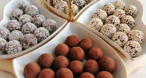 طرز تهیه ترافل خرما یا توپک خرمایی ویژه ماه رمضان