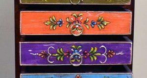 مدل دراور چوبی فانتزی با طرح های قدیمی و رنگارنگ + نکات خرید دراور