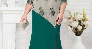 مدل لباس مجلسی زنان چاق و درشت اندام + اصول خوش پوشی زنان چاق
