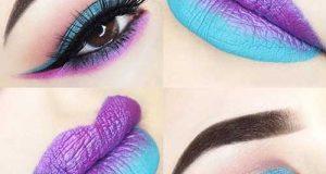 مدلهای میکاپ چشم و لب در ترکیب رنگهای متنوع و زیبا