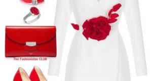 ست لباس قرمز و سفید زنانه و نکاتی برای ست کردن این دو رنگ زیبا