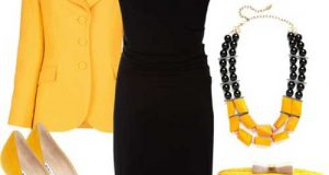 ست لباس زرد و مشکی زنانه و نکاتی برای ست کردن این دو رنگ زیبا