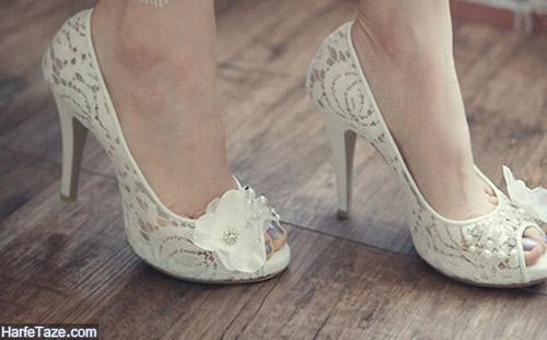 مدل تزیین کفش عروس خاص و لاکچری