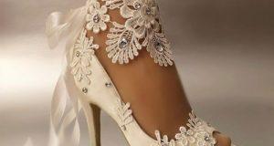 مدل تزیین کفش عروس خاص و لاکچری + دیزاین جدید کفش عروس