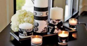 مدل تزئین جاشمعی و شمع آرایی مراسم ختم و مذهبی
