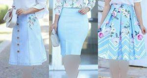 مدلهای جدید بلوز دامن طرحدار و ساده با دامن بلند و کوتاه