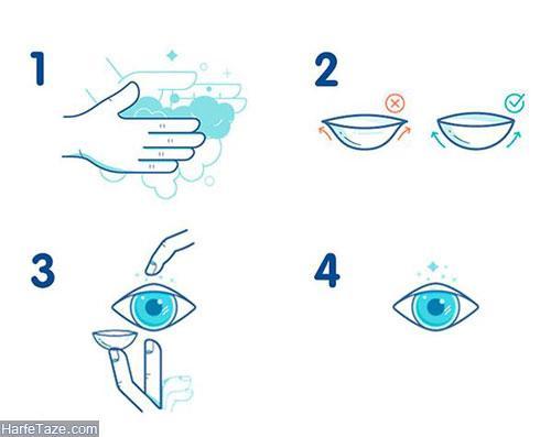 گذاشتن لنز چشم