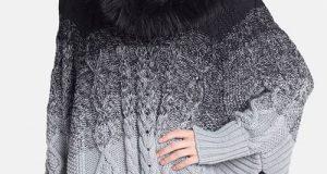مدلهای جدید و شیک پانچو بافت زنانه زمستانی ۹۸