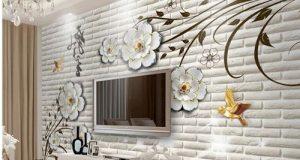 دیزاین دیوار پشت تلویزیون با طرحهای جدید کاغذ دیواری ۲۰۲۰