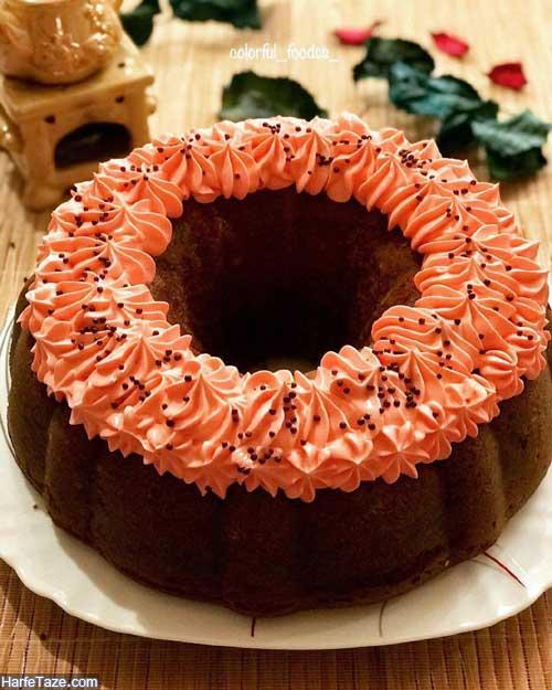 کیک موزی گردویی