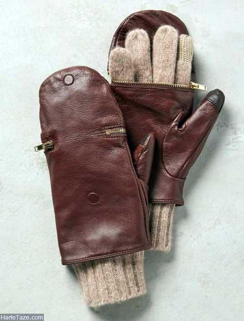 دستکش چرمی زنانه