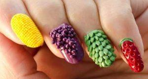 مدلهای طراحی ناخن میوه ای | دیزاین ناخن به شکل میوه های مختلف
