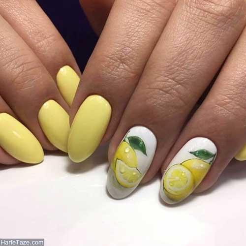 طراحی ناخن میوه ای