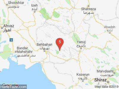 زلزله چرام و دوگنبدان