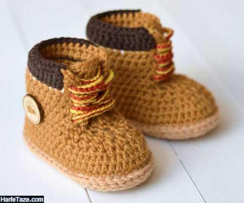 مدل های شیک و جذاب کفش بافتنی نوزاد دختر و پسر برای سیسمونی