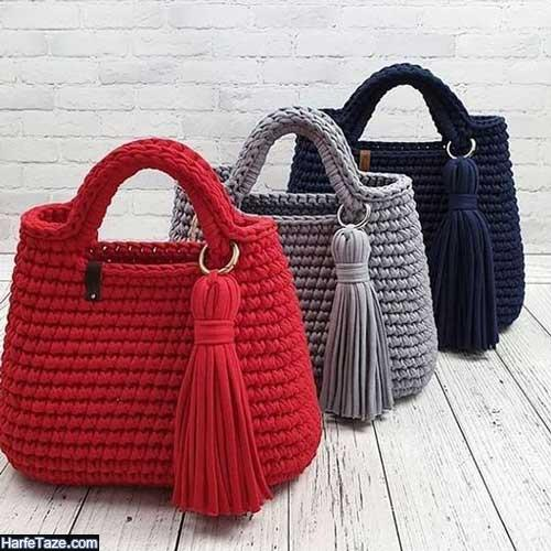 مدل های جدید و متنوع کیف بافتنی زنانه مناسب برای مهمانی و محل کار