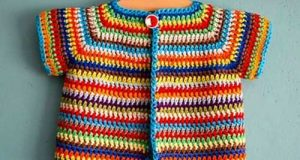 مدل های لباس کاموایی بچه گانه آستین کوتاه برای دختربچه های شیک