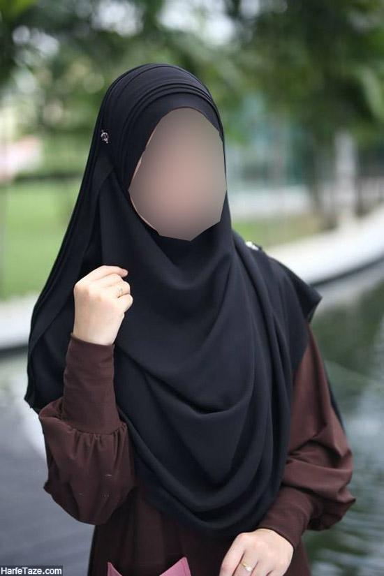 مدل روسری مشکی محرم | جدیدترین مدل های روسری مشکی ساده و طرحدار بسیار شیک