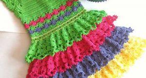 مدلهای پیراهن کاموایی بچگانه شیک و رنگارنگ | لباس کاموایی دختربچه