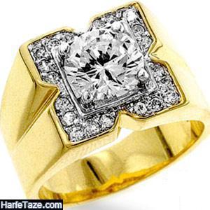 انگشتر مردانه طلا | مدل های جدید و شیک انگشتر مردانه طلای زرد