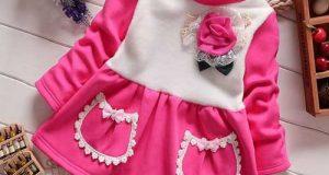 مدل های جدید لباس مجلسی زمستانی بچگانه برای دختر بچه های فسقلی