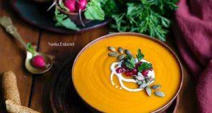 سوپ کدو حلوایی | طرز تهیه سوپ کدو تنبل پاییزی