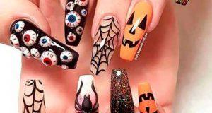 طراحی ناخن هالووین | مدل های جالب دیزاین ترسناک ناخن