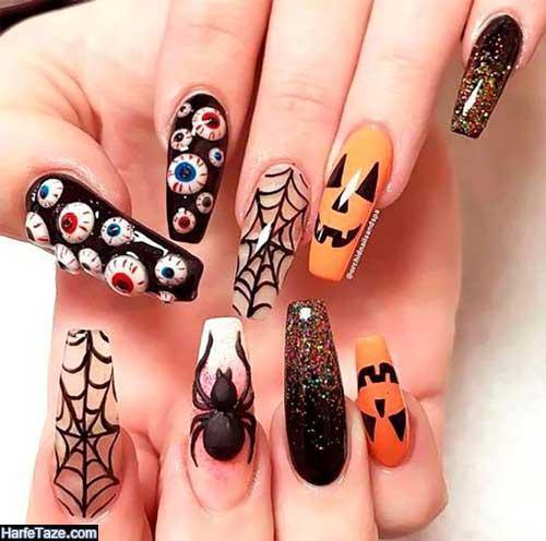 طراحی ناخن هالووین