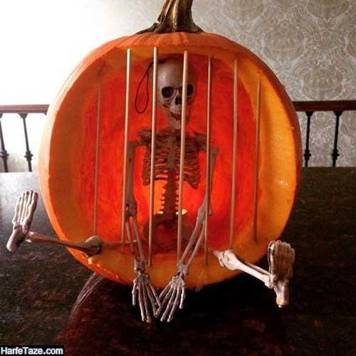 تزیین کدو هالووین