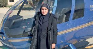 بیوگرافی و عکس های سمیرا شبانی اولین زن خلبان بالگرد و هلیکوپتر