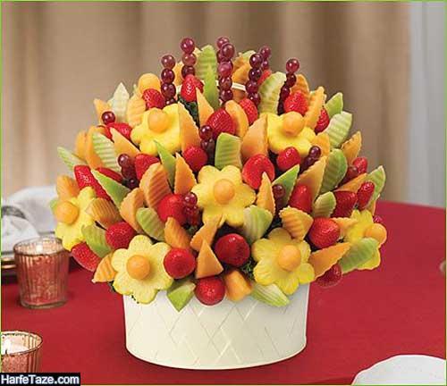 تزیین میوه سیخی