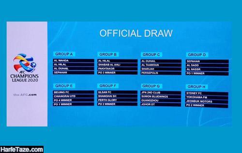 گروه استقلال در لیگ قهرمانان آسیا 2020
