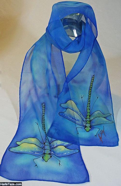 مدل روسری آبی کلاسیک 99