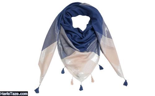 مدلهای جدید شال و روسری آبی کلاسیک رنگ سال 2020