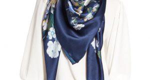 مدلهای جدید شال و روسری آبی کلاسیک متناسب با رنگ سال ۲۰۲۰ و ۹۹