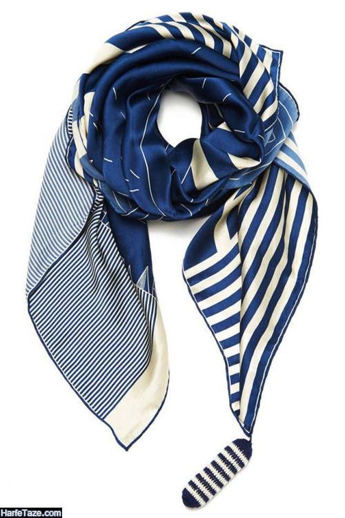 مدل روسری آبی کلاسیک 2020