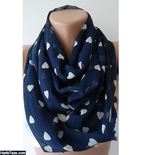 روسری آبی کلاسیک برای عید 99