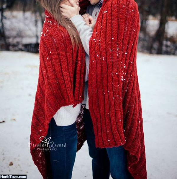 عکس دونفره در زمستان برای پروفایل پسرانه