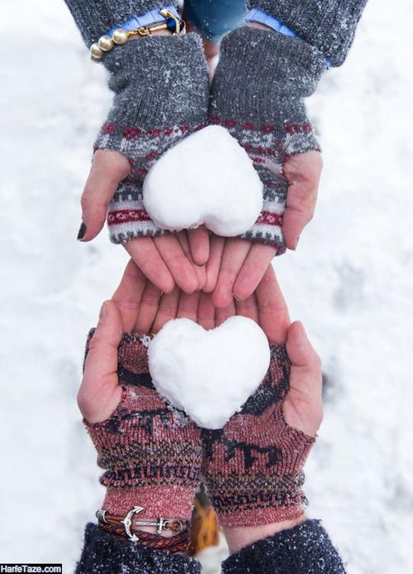 عکس دونفره در زمستان